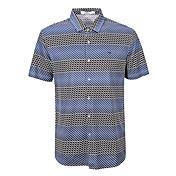 siete Brand® Hombre Cuello Camisero Manga Corta Camiseta Azul-702T511353