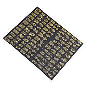 1x 108 kom 3D zlatne cvijeće nail art naljepnice naljepnice za nail art naljepnice