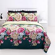 布団カバーセットは、4ピースのスーツ5D油絵の寝具はベッドリネンシートセットコットンプリント寝具を設定します