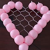hjerte form ballon gitter DIY fest bryllup fødselsdag dekoration (ikke indeholde ballon)