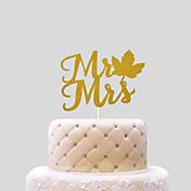Decorações de Bolo Não-personalizado Corações Papel de Cartão Aniversário Laço Dourado Tema Praia / Tema Clássico 1 PPO
