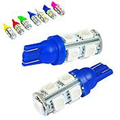 jiawen 10個入り/車の電球のためにたくさんのT10 1.2ワットの9x5050smdの85lm(DC12V)