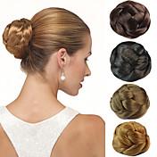 結婚式のブライダルアップヘアの髷パンクリップ合成ストレートヘアエクステンションより多くの色