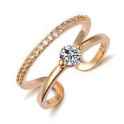 指輪 女性用 キュービックジルコニア 合金 合金 調整可 ゴールド / 銀 装飾物のカラーは画像をご参照ください.