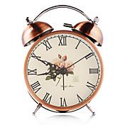 bronzový vinobraní double zvonek železa budík s tichým hodinový stroj a podsvícení řemesla stolní hodiny domácí dekoraci