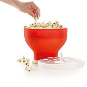 Microondas palomitas de maíz fabricante de pop pop de maíz cuenco de cubo con tapa cocina herramientas de hornear