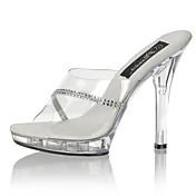 Feminino-Saltos-Sapatos clube Light Up Shoes-Salto Agulha Salto Alto de Cristal-Transparente-PVC-Casamento Festas & Noite