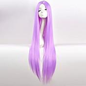 長いストレート髪のかつら100センチメートル長いウィッグで紫色のかつら光のcos