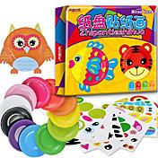 10pcs los niños creativos animales del dibujo animado juguetes hechos a mano de la etiqueta engomada kindergarden platos de papel de