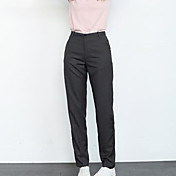 De las mujeres Pantalones Traje / Harén / Chinos-Simple Rígido-Algodón / Poliéster