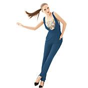 Europa y América del ventilador pantalones guardapolvos rectos de la moda de las mujeres joannekitten®
