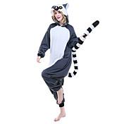 Kigurumi Pijamas Leotardo/Pijama Mono Festival/Celebración Ropa de Noche de los Animales Halloween Azul Tinta Estampado Animal Lana Polar