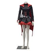 Inspirado por RWBY Ruby Animé Disfraces de cosplay Trajes Cosplay Un Color Manga Larga Vestido Para Mujer