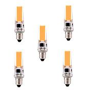 5W E11 LED2本ピン電球 T 1 COB 400-500 lm 温白色 / クールホワイト 明るさ調整 / 装飾用 AC 110-130 V 5個