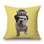Algodón/Lino Cobertor de Cojín,Novedad / Con Texturas / Estampado animal Moderno/Contemporáneo / Casual / Detalle Decorativo