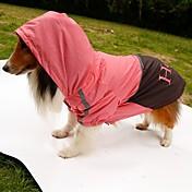pejsky Pláštěnka Oblečení pro psy Léto Jaro/podzim dopis a číslo Voděodolný Oranžová Žlutá Zelená Růžová