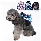 Perro Paquete de perro Mascotas Portadores Portátil camuflaje Verde Azul Rosa