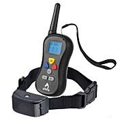 collar de la corteza Collares de Entrenamiento para Perros Impermeable Antiladrido Control Remoto LCD 300M Vibración Un Color Nailon