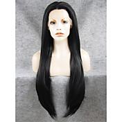 imstyle 30 nejvyšší stupeň dlouhé vlasy hladké paruky krajky vpředu syntetický přirozený vzhled