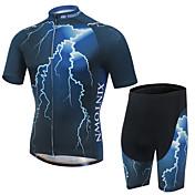 XINTOWN Maillot de Ciclismo con Shorts Hombre Mangas cortas Bicicleta Camiseta/Maillot Shorts/Malla cortaSecado rápido Resistente a los
