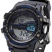 Hombre Reloj Deportivo Reloj Militar Reloj de Moda Reloj de Pulsera DigitalLED LCD Calendario Cronógrafo Resistente al Agua Luminoso