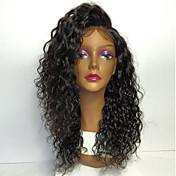 8a pune čipke ljudske kose perika za žene 130% gustoće Brazilski kinky kovrčava ljudske kose perika s baby kosu