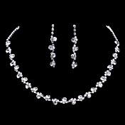 Sady šperků Visací náušnice Náhrdelník / náušnice Módní Elegantní Pro nevěstu Umělé diamanty Šperky Zlatá Stříbrná Bílá / bíláNáhrdelníky