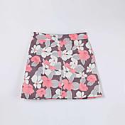 De las mujeres Faldas-Sobre la rodilla Simple Rígido-Algodón