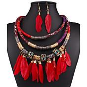 Šperky Set Módní Sexy Černá Červená Modrá Náhrdelník / náušnice Svatební Párty Denní Ležérní 1Nastavte Náhrdelníky Küpeler Svatební dary