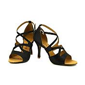 Zapatos de baile(Negro / Azul / Rojo / Plata / Oro) -Latino / Salsa-Personalizables-Tacón Personalizado