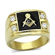 Prsteny s kamenem Módní Nerez Umělé diamanty Zlatá Šperky Pro Svatební Párty Halloween Denní Ležérní Vánoční dárky 1ks