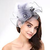 成人用 レース 羽毛 ネット かぶと-結婚式 パーティー カジュアル ヘッドドレス 1個
