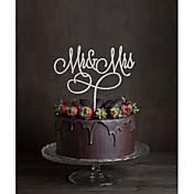 ケーキトッパー 非パーソナライズ モノグラム アクリル 結婚式 花 ブラック クラシックテーマ 1 ギフトボックス