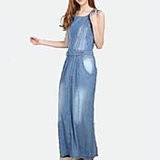 Odstavec Bull-děrovač sukně na zip Tencel Denim Dress Bull-děrovač šaty šaty mládeže Věk