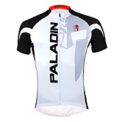 ILPALADINO Maillot de Ciclismo Hombre Manga Corta Bicicleta Camiseta/Maillot Tops Secado rápido Resistente a los UV Cremallera delantera