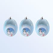 Navidad decoración de bolas de color azul 3pcs