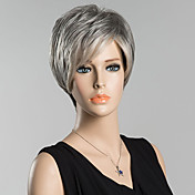 přirozené krátké rovné lidské vlasy paruky pro ženy