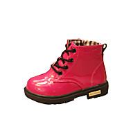 Boty-PU-Pohodlné-Dívčí-Černá Žlutá Růžová Meloun-Outdoor Běžné-Plochá podrážka