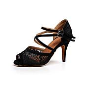 Zapatos de baile(Negro / Rojo / Blanco) -Latino / Zapatillas de Baile / Salsa-Personalizables-Tacón Stiletto