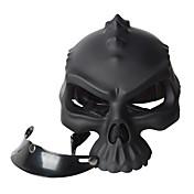 color de doble uso cráneo casco casco retro de la novedad de la media cara casco de moto