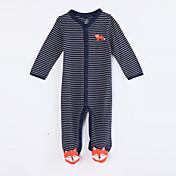 赤ちゃん カジュアル/普段着 ストライプ コットン ワンピース 秋 長袖