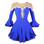 Vestido de Patinaje Sobre Hielo Mujer Media Manga Patinaje Vestidos Alta elasticidad Figura vestido de patinaje Listo para vestir