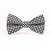 Muž Polyester / Směs bavlny Vintage / Party / Pracovní / Na běžné nošení Motýlek,Kostičky Černá