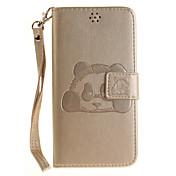 xiaomi redmi note 3 note 4 case coverパンダパターンエンボスpuレザー素材ステントカードホルダーredmi 3s用電話カバー