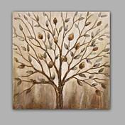 手描きの 抽象画 / 花柄/植物の 油彩画,Modern / クラシック 1枚 キャンバス ハング塗装油絵 For ホームデコレーション