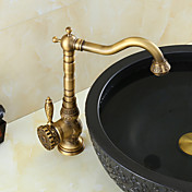 アンティーク真鍮仕上げ竹の形状設計とバスルームのシンクの蛇口