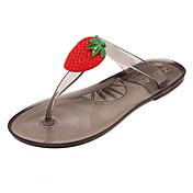 Mujer-Tacón Plano-Confort-Zapatillas y flip-flop-Casual-PVC-Negro / Marrón