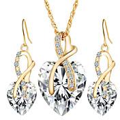 ジュエリー 1×ネックレス / 1×イヤリング(ペア) クリスタル / 模造ダイヤモンド パーティー / 日常 / カジュアル 1セット 女性 ホワイト / レッド / ブルー / グリーン ウェディングギフト