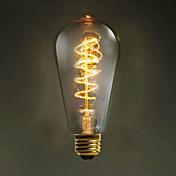 60ワット220V-240Vのエジソンの周り:: E27のST64ワイヤーレトロ装飾電球