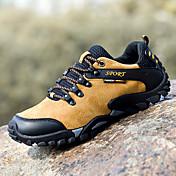 HombreConfort-Zapatillas de Atletismo-Exterior Deporte-Cuero de Cerdo-Azul Amarillo Gris